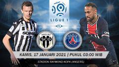 Indosport - Pertandingan Angers SCO vs Paris Saint-Germain (Ligue 1).
