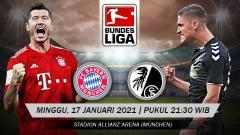 Indosport - Pimpinan klasemen Bayern Munchen akan menjamu tamunya tim peringkat ke-8, Freiburg, pada laga pekan ke-16 Bundesliga di Allainz Stadium, Minggu (17/01/21).