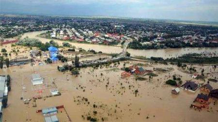 Kondisi banjir di Kalimantan Selatan. - INDOSPORT