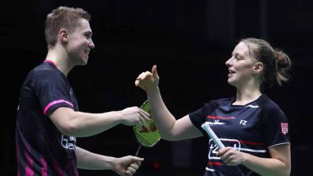 Pasangan ganda campuran Prancis, Thom Gicquel/Delphine Delrue. - INDOSPORT