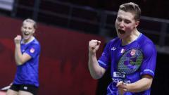Indosport - Pasangan ganda campuran Prancis, Thom Gicquel/Delphine Delrue.