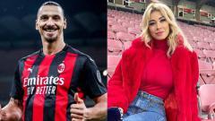 Indosport - Ibrahimovic dan Diletta Leotta.
