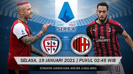 Prediksi Pertandingan Cagliari AC Milan (Serie A). - INDOSPORT