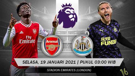Pertandingan Arsenal vs Newcastle United (Liga Inggris). - INDOSPORT