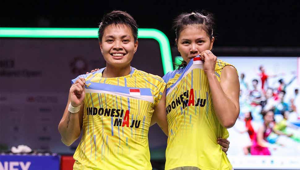 Pebulutangkis Ganda Putri Indonesia, Greysia Polii/Apriyani Rahayu, Juara YONEX Thailand Open 2021. Copyright: Twitter@bwfmedia