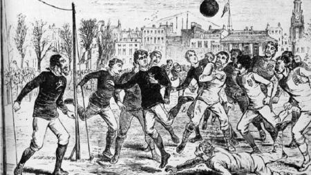 Ilustrasi pertandingan internasional pertama Inggris vs Wales, 18 Januari 1879. - INDOSPORT