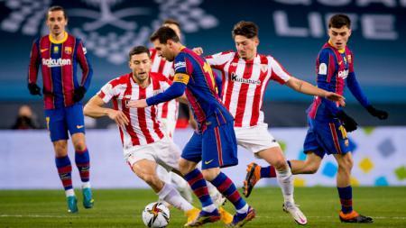 Pertandingan Final Piala Super Spanyol antara Barcelona vs Athletic Bilbao - INDOSPORT