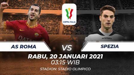 Berikut tersaji prediksi pertandingan sepak bola Coppa Italia 2021 antara AS Roma vs Spezia yang akan berlangsung di Stadion Olimpico. - INDOSPORT