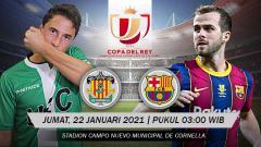 Indosport - Pertandingan UE Cornella vs Barcelona (Copa del Rey).