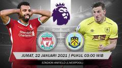 Indosport - Berikut prediksi pertandingan Liverpool vs Burnley di ajang Liga Inggris pekan ke-18, Jumat (22/01/2021) pukul 03.00 WIB di Anfield.