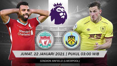 Berikut link live streaming pertandingan Liga Inggris 2020-2021 antara Liverpool vs Burnley yang akan berlangsung di Anfield Stadium. - INDOSPORT