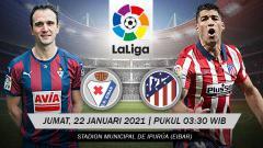 Indosport - Pertandingan Liga Spanyol Eibar vs Atletico Madrid (LaLiga).