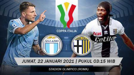 Link Live Streaming Babak 16 Besar Coppa Italia: Lazio vs Parma. - INDOSPORT