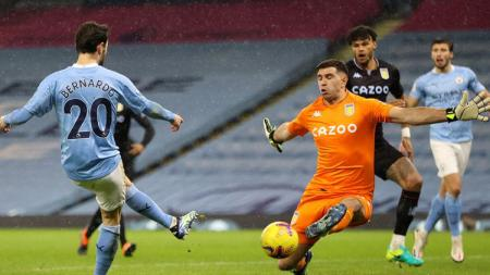 Berikut hasil laga Liga Inggris Manchester City vs Aston Villa. - INDOSPORT