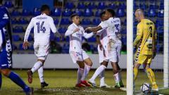 Indosport - Pertandingan Copa del Rey Alyocano vs Real Madrid