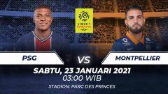 Indosport - Link Live Streaming Ligue 1 Prancis: PSG vs Montpellier, Kokohkan Posisi Puncak.