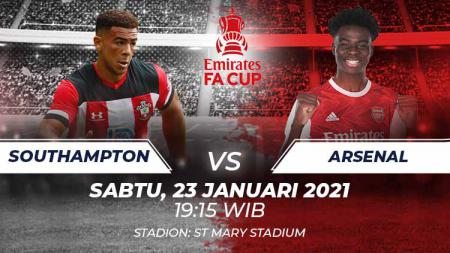 Link Live Streaming Pertandingan Piala FA: Southampton vs Arsenal. - INDOSPORT