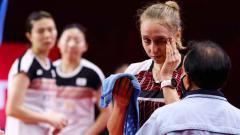 Indosport - Sara Thgesen, pebulutangkis ganda putri asal Denmark.