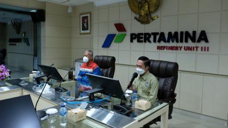 Presiden PS Palembang, Ratu Dewa, menggelar audiensi ke PT Pertamina. - INDOSPORT