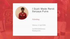 Indosport - Pemain Garuda Select 3, I Gusti Made Rendy Sanjaya Putra.