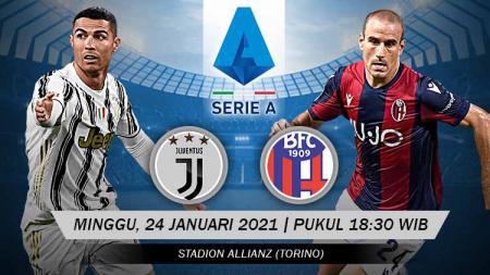 Berikut tersaji link live streaming pertandingan sepak bola Serie A Liga Italia 2020-2021 antara Juventus vs Bologna yang akan berlangsung di Allianz Stadium. - INDOSPORT