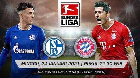 Berikut tersaji link live streaming pertandingan Bundesliga Jerman 2020-2021 antara Schalke 04 vs Bayern Munchen yang akan berlangsung di Veltins-Arena. - INDOSPORT