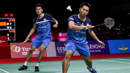 Lee Yang/Wang Chi-lin sukses mengalahkan Aaron Chia/Soh Wooi Yik sekaligus anak didik pelatih asal Indonesia Flandy Limpele di final Toyota Thailand Open 2021. - INDOSPORT