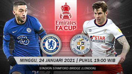 Berikut link live streaming pertandingan Piala FA putaran keempat yang mempertemukan Chelsea vs Luton Town. - INDOSPORT