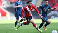 Indosport - Momen dalam pertandingan Putaran IV Piala FA antara Southampton kontra Arsenal, Sabtu (23/1/21).