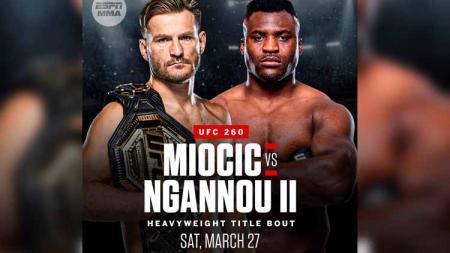 Stipe Miocic vs Francis Ngannou di UFC 260. - INDOSPORT