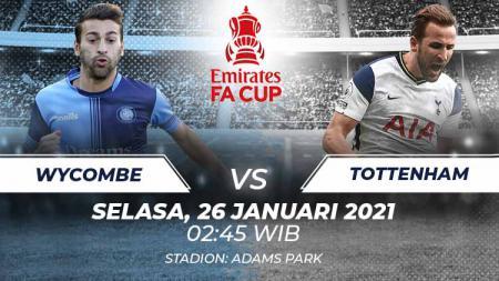 Link live streaming pertandingan Putaran IV Piala FA 2020-2021 antara Wycombe vs Tottenham Hotspur, pada Selasa (26/1/21) 02.45 dini hari WIB. - INDOSPORT
