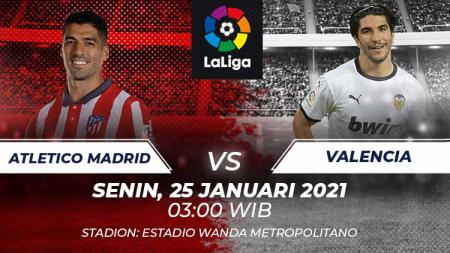 Atletico Madrid vs Valencia. - INDOSPORT