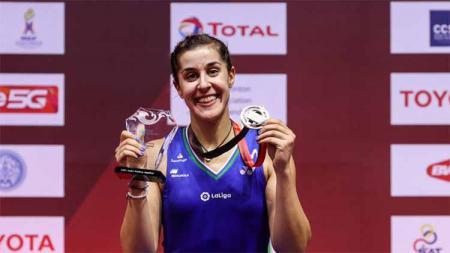 Media India soroti absennya peraih medali emas Olimpiade Rio 2016 asal Spanyol, Carolina Marin batal tampil di kejuaraan All England 2021 akibat hal ini. - INDOSPORT