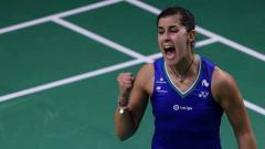 Indosport - Pebulutangkis Carolina Marin memberikan pujian kepada wakil Rusia Evgeniya Kosetskaya usai berhasil dibuat repot di penyisihan grup BWF World Tour Finals 2020.