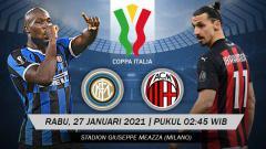 Indosport - Pertandingan Inter Milan vs AC Milan (Coppa Italia).