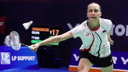 Evgeniya Andreevna pebulutangkis tunggal putri asal Rusia yang siap menjadi ancaman Indonesia di Piala Sudirman. - INDOSPORT