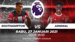 Indosport - Link Live Streaming Liga Inggris: Southampton vs Arsenal, Pembalasan The Gunners.