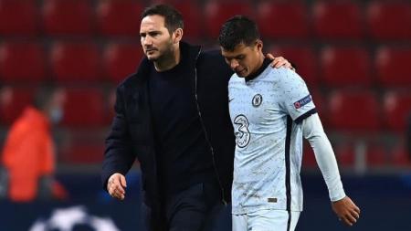 Frank Lampard bersama Thiago Silva. - INDOSPORT