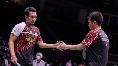 Indosport - Ganda putra Indonesia, Hendra Setiawan/Mohammad Ahsan.