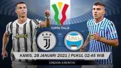 Indosport - Link Live Streaming Perempat Final Coppa Italia: Juventus vs SPAL.