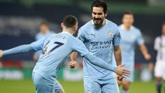 Indosport - Berikut hasil pertandingan Liga Inggris antara West Brom vs Manchester City.