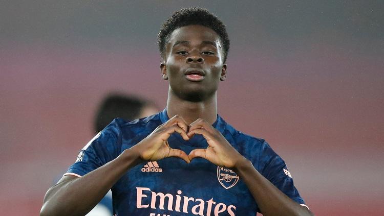 Selebrasi Bukayo Saka di laga Southampton vs Arsenal di Liga Inggris Copyright: Twitter @Arsenal