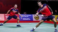 Indosport - Pernah kalahkan Fajar Alfian/M. Rian Ardianto, pasangan Inggris Ben Lane/Sean Vendy buat kejutan di BWF World Tour Finals 2020.