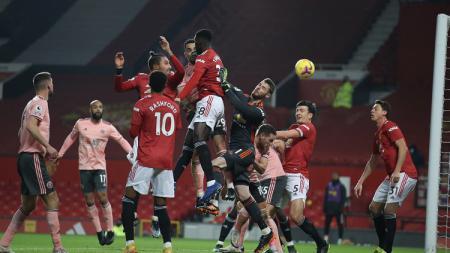 Kean Bryan mencetak gol di laga Manchester United vs Sheffield United di Liga Inggris. - INDOSPORT