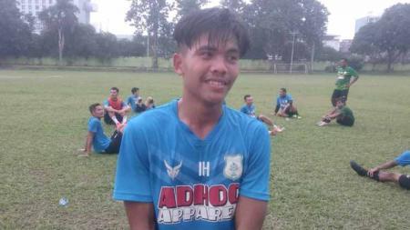 David Maulana usai latihan bersama di Stadion Mini Kebun Bunga, Medan, Rabu (27/1/21). - INDOSPORT