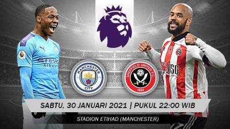 Berikut tersaji prediksi pertandingan sepak bola Liga Inggris 2020-2021 antara Manchester City vs Sheffield United yang akan berlangsung di Etihad Stadium. - INDOSPORT
