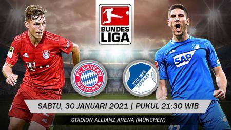 Berikut ini prediksi pertandingan lanjutan Bundesliga Jerman antara Bayern Munchen vs Hoffenheim yang akan berlangsung pada Sabtu (30/01/21) - INDOSPORT