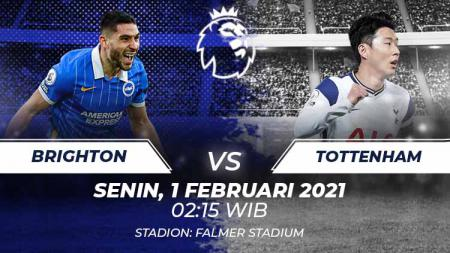 Link Live Streaming Liga Inggris: Brighton & Hove Albion vs Tottenham Hotspur. - INDOSPORT