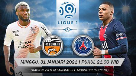 Berikut tersaji prediksi pertandingan sepak bola Ligue 1 Prancis 2020-2021 antara Lorient vs PSG yang akan berlangsung di Stadion Yves Allainmat, Le Moustoir. - INDOSPORT