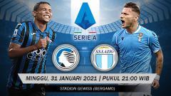 Indosport - Duel antaralini laga pekan ke-20 Liga Italia antara Atalanta menghadapi Lazio, siapa paling tampil menyerang?